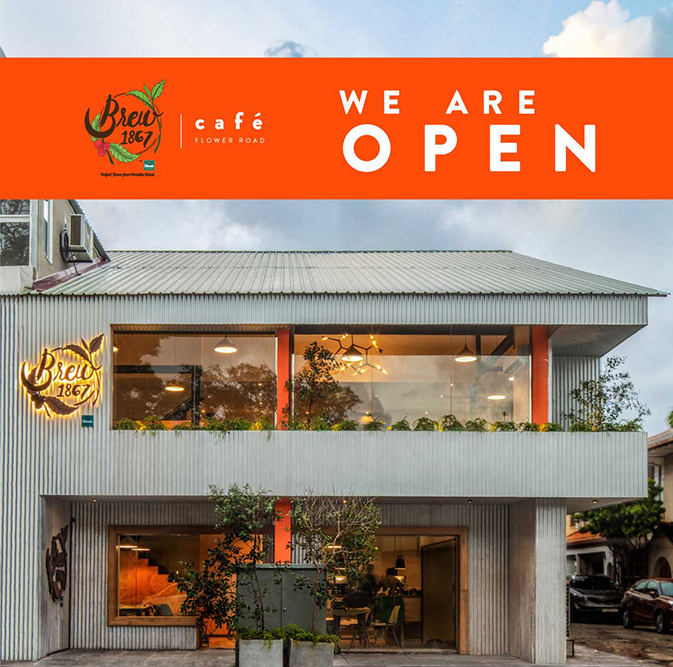 WE ARE NOW OPEN AT FLOWER ROAD